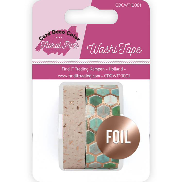 CDCWT10001 Washi Tape - Yvonne Creations - Floral Pink