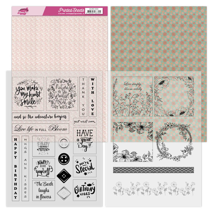 CDCMC10001 Mica Sheets - Yvonne Creations - Floral Pink