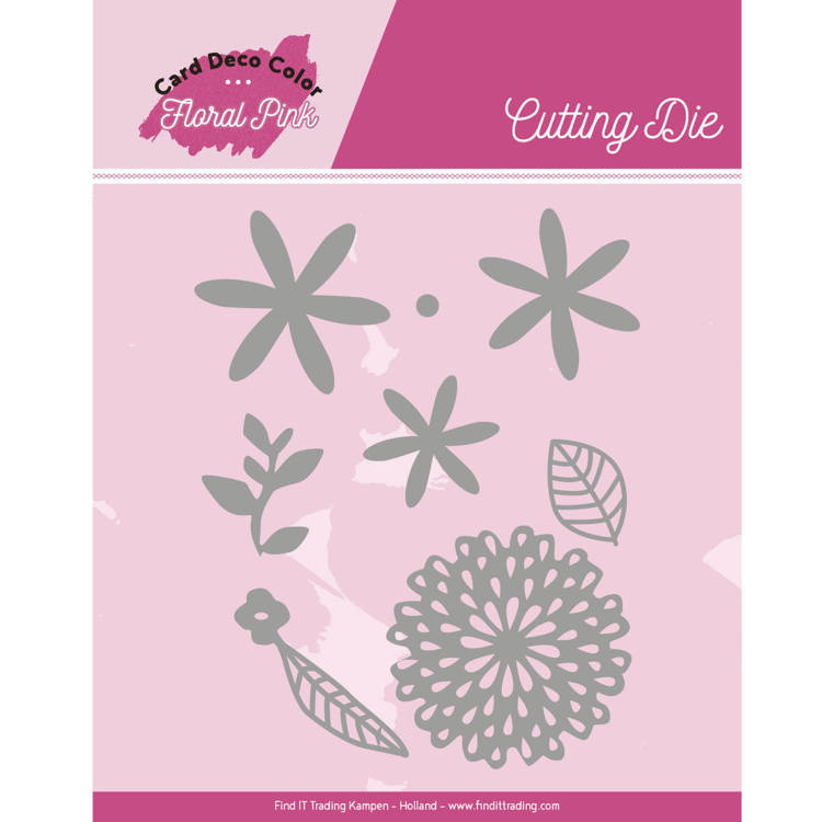 CDCCD10001 Dies - Yvonne Creations - Floral Pink - Floral Pink Flowers