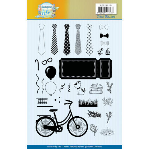 YCCS10054 Clear Stamps - Yvonne Creations - Active Life (HJ178)