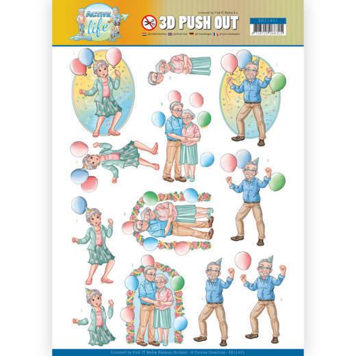 SB10401 3D Pushout - Yvonne Creations - Active Life - Party Together (HJ178)