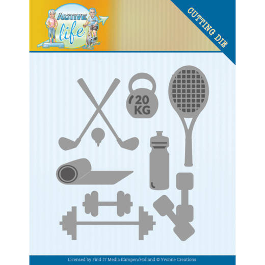 YCD10194 Dies - Yvonne Creations - Active Life - Active Sports (HJ178)