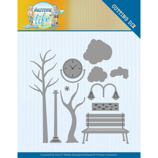 YCD10193 Dies - Yvonne Creations - Active Life - Park Scenery (HJ178)