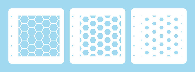 LCSH001 Layered combi stencil set (set of 3) Honeycomb