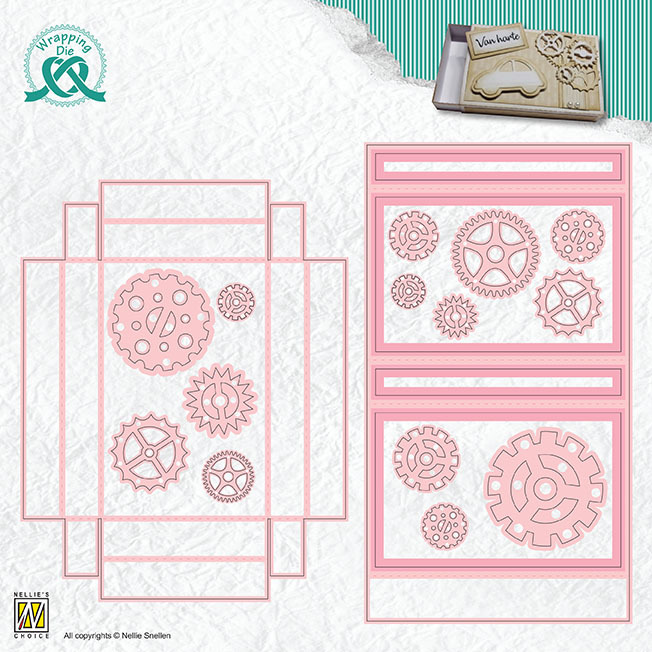 WPD010 Wrapping Dies Gift box-10 Giftcard box