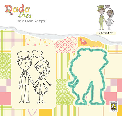 DDCS024 DADA Set Die & Clear stamp marriage In Love