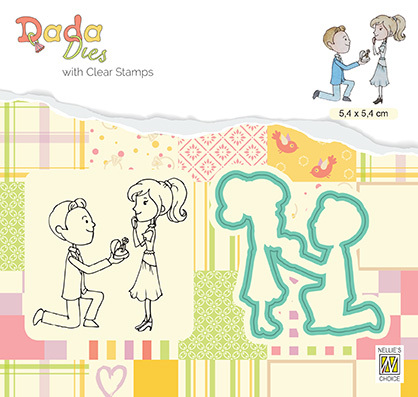 DDCS025 DADA Set Die & Clear stamp marriage Proposal of marriage