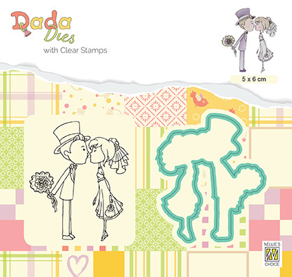 DDCS026 DADA Set Die & Clear stamp marriage kissing