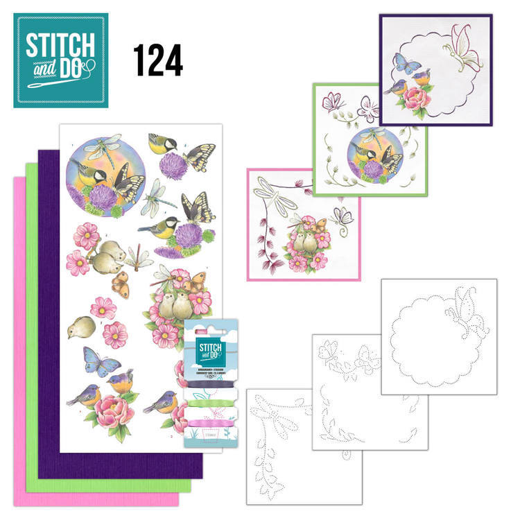 STDO124 Stitch and Do 124 - Happy Birds