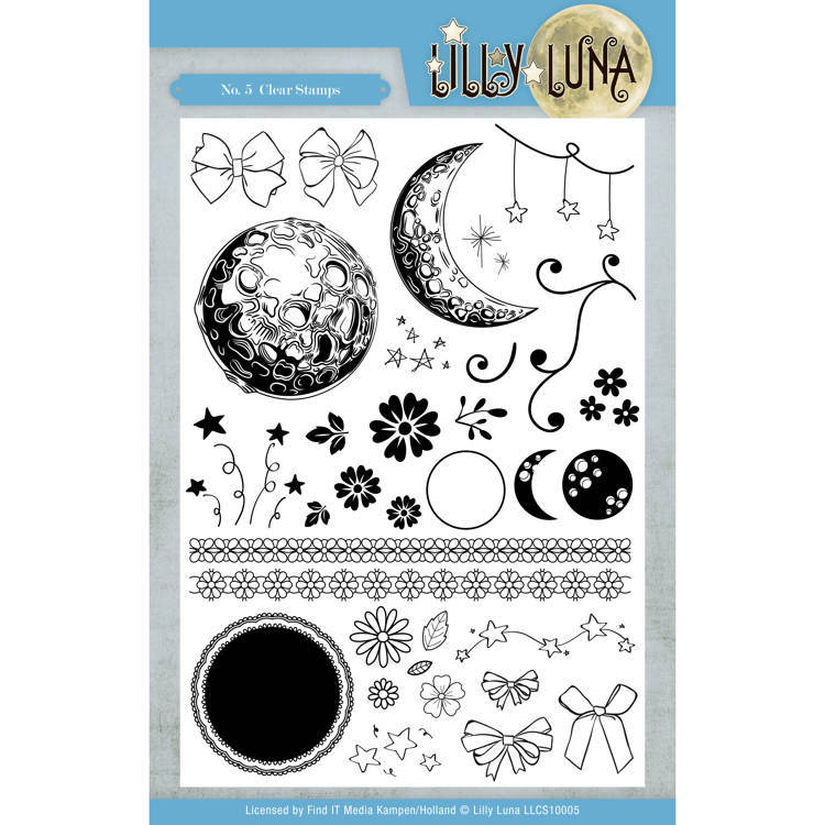 LLCS10005 Clear Stamps - Lilly Luna (HZP34)