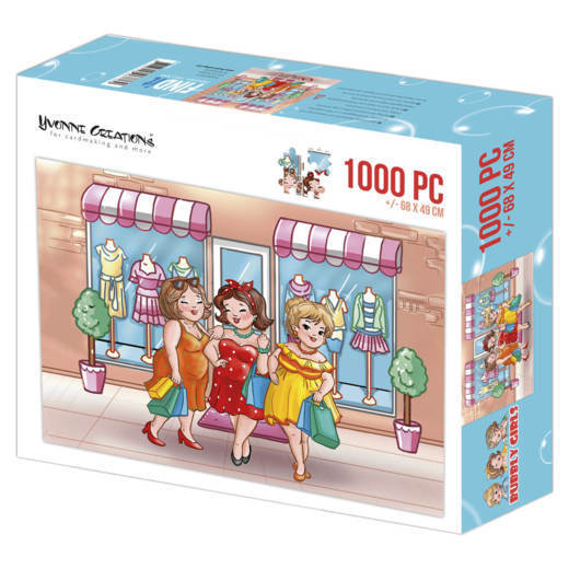 YCPZ1001 Puzzle 1000 pc - Yvonne Creations - Bubbly Girls Shopping  001