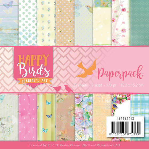 JAPP10013 Paperpack - Jeanine's Art - Happy Birds (HJ179)