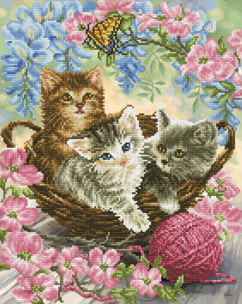 DD10.035 DIAMOND DOTZ® - 40x50cm - Kitty Knits