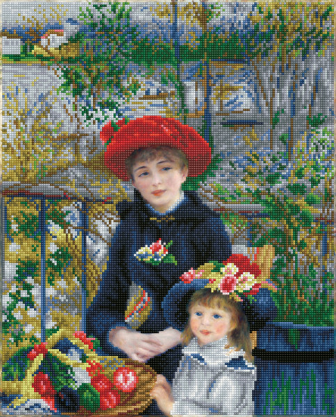 DD10.039 DIAMOND DOTZ® - 42x52cm - Two Sisters on the Terrace ((aprës Renoir)