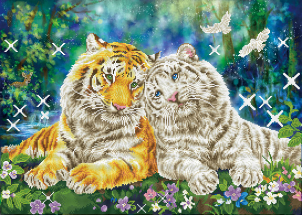DD13.026 Diamond Dotz® - 77x55cm Tiger Smooch
