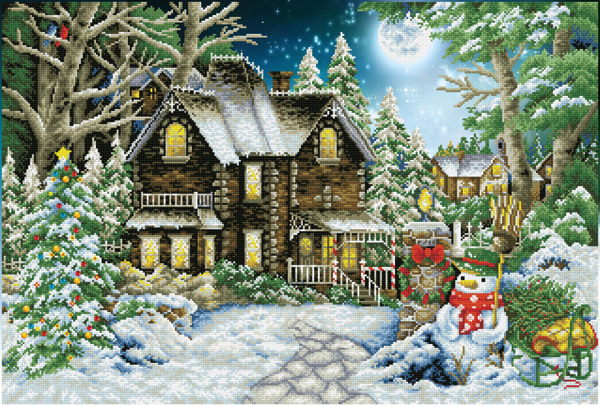 DD15.020 Diamond Dotz® - 90x61cm Winter Wonderland