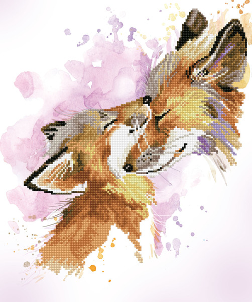 DD8.013 Diamond Dotz® - 42x50cm Fox Bliss