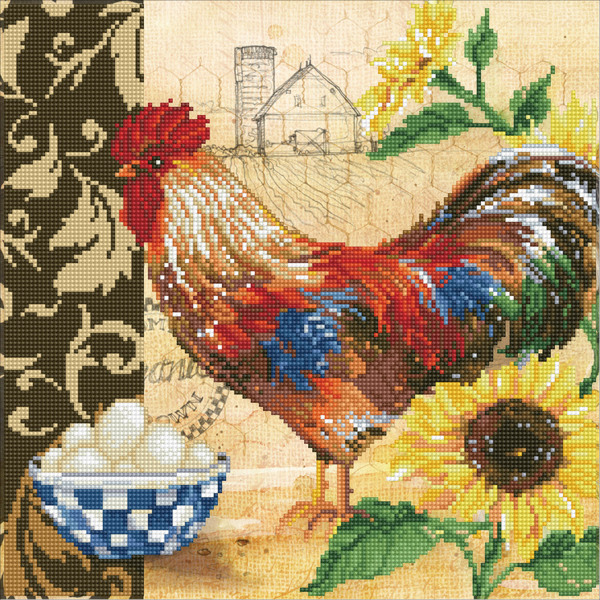 DD9.049 Diamond Dotz® - 41x41cm Country Rooster