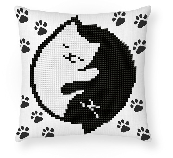 DDP2.041 Diamond Dotz® - 18cmx18cm kussen Kitty Glow Mini Pillow