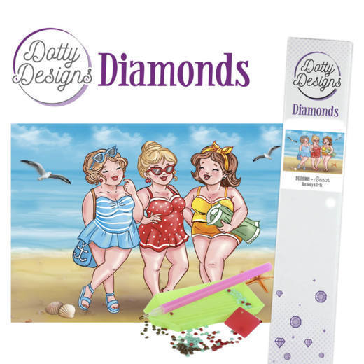 DDD10008 Dotty Designs Diamonds - Bubbly Girls - Beach