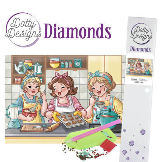 DDD10006 Dotty Designs Diamonds - Bubbly Girls - Kitchen