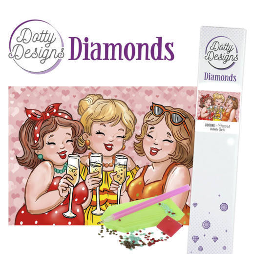 DDD10005 Dotty Designs Diamonds - Bubbly Girls - Cheers
