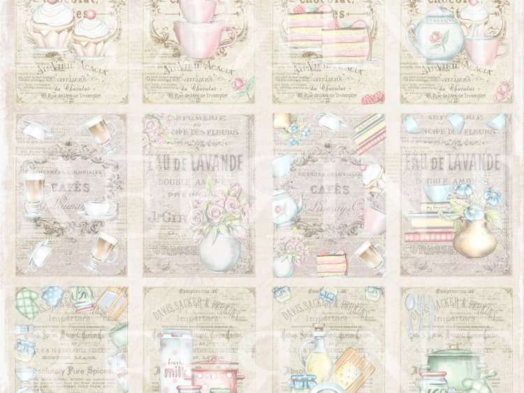 RP0311 Swedish Fika Collection 12x12 Tags