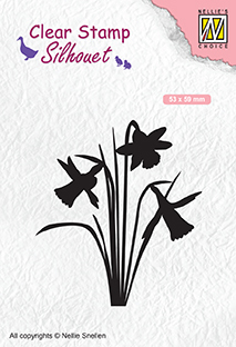 SIL064 Silhouet Clear stamps daffodil