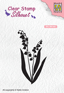 SIL065 Silhouet Clear stamps Lily of the valley
