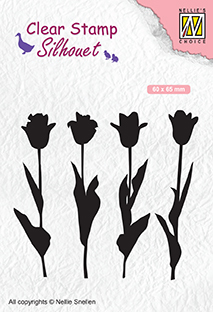 SIL066 Silhouet Clear stamps tulips
