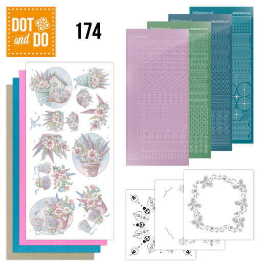 DODO174 Dot and Do 174 - Yvonne Creations - Flowers in Pastel