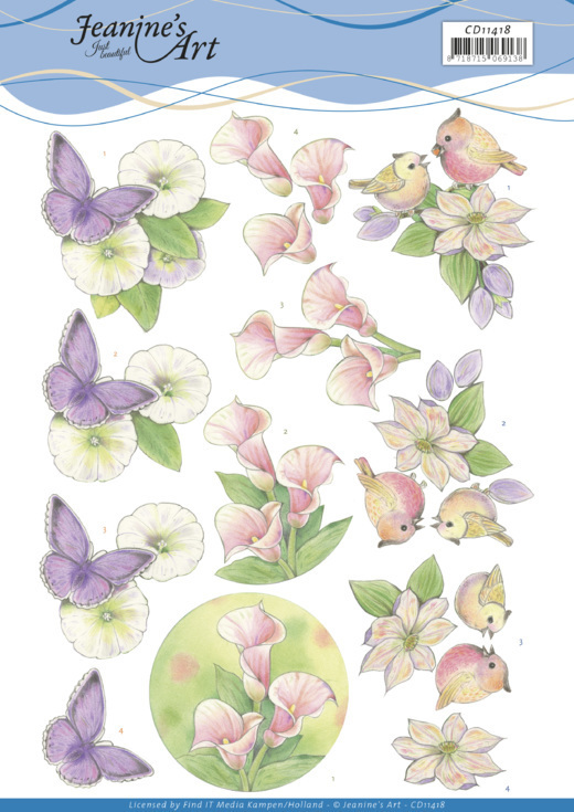 CD11418 3D cutting sheet - Jeanine's Art - Wonderful nature