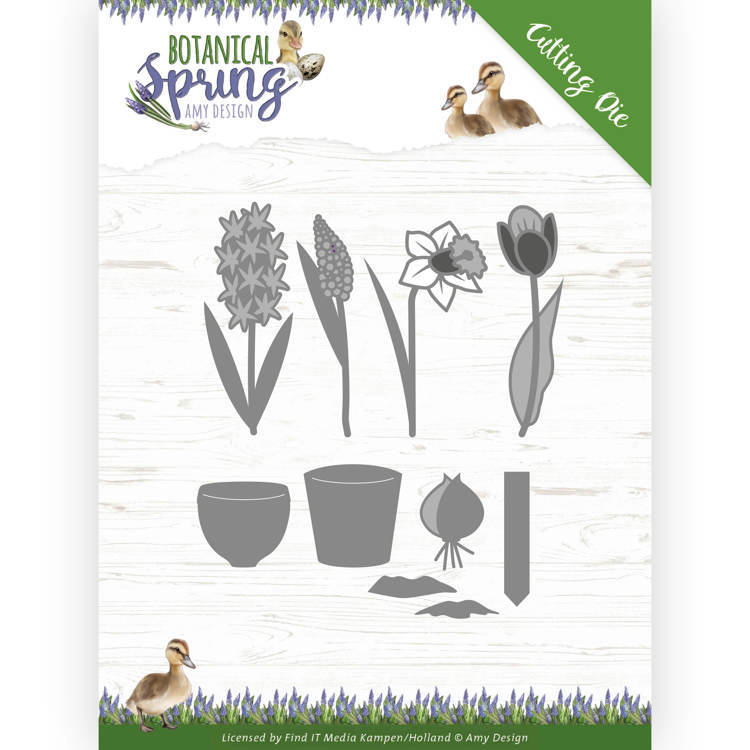 ADD10199 Dies - Amy Design - Botanical Spring - Bulbs and flowers (HJ181)
