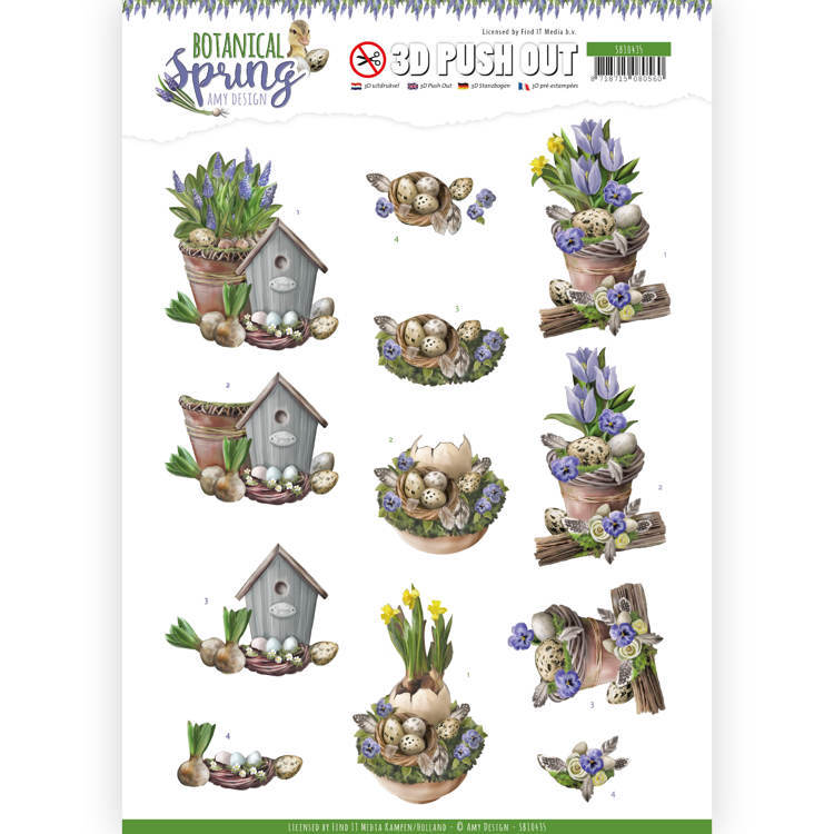 SB10435 3D Pushout - Amy Design - Botanical Spring - Spring Arrangement (HJ181)