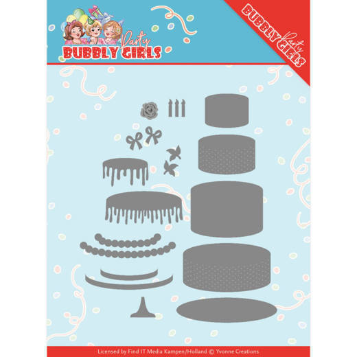 YCD10202 Dies - Yvonne Creations - Bubbly Girls Party - Birthday Cake
