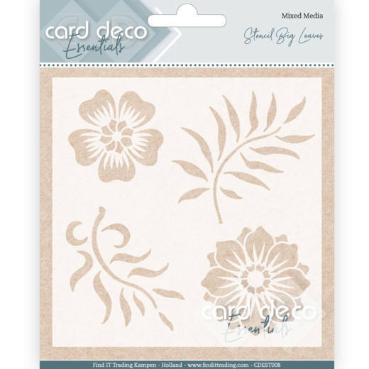 CDEST008 Card Deco Essentials - Stencil Big Leaves (HJ182)
