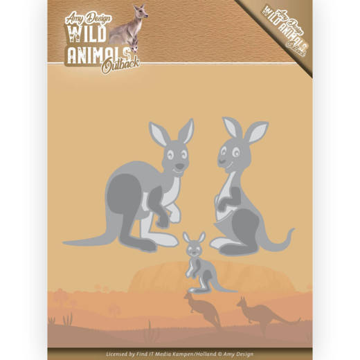 ADD10209 Dies - Amy Design - Wild Animals Outback - Kangaroo (HJ182)