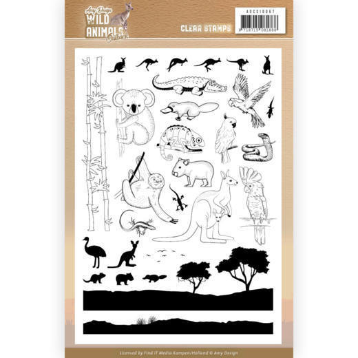 ADCS10067 Clear Stamps - Amy Design - Wild Animals Outback (HJ182)