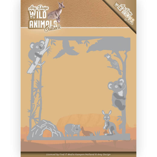 ADD10203 Dies - Amy Design - Wild Animals Outback - Koala Frame (HJ182)