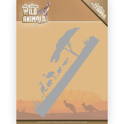 ADD10205 Dies - Amy Design - Wild Animals Outback - Landscape (HJ182)