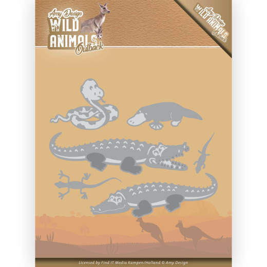 ADD10206 Dies - Amy Design - Wild Animals Outback - Crocodile (HJ182)