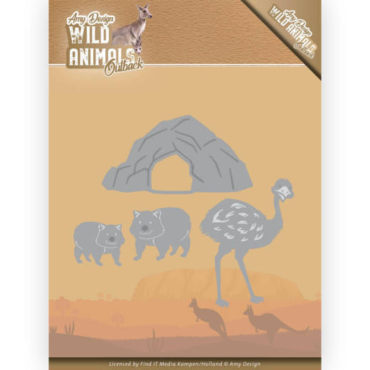 ADD10207 Dies - Amy Design - Wild Animals Outback - Emu and Wombat (HJ182)