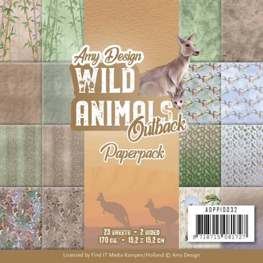 ADPP10032 Paperpack - Amy Design - Wild Animals Outback (HJ182)