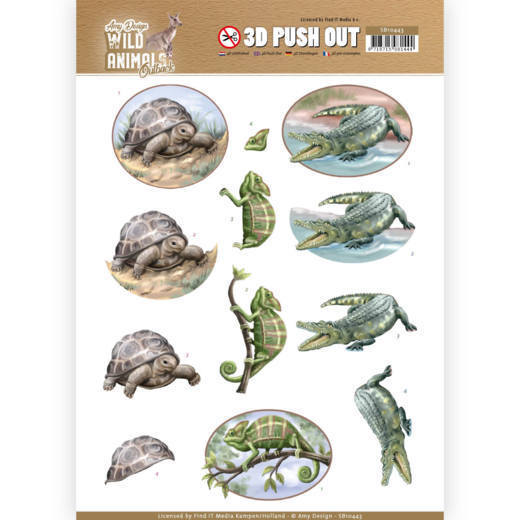 SB10443 3D Pushout - Amy Design - Wild Animals Outback - Reptiles (HJ182)