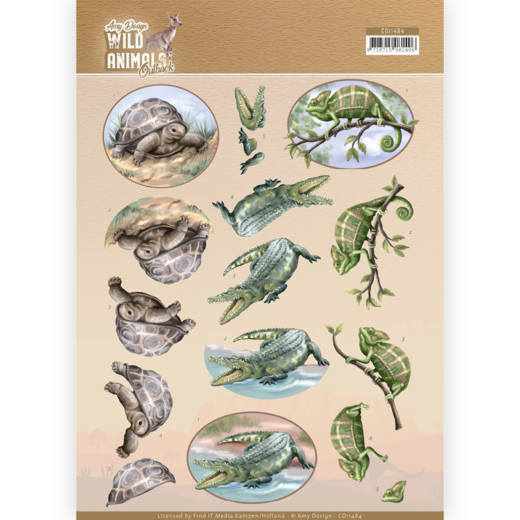 CD11484 3D Cutting sheet - Amy Design - Wild Animals Outback - Reptiles (HJ182)