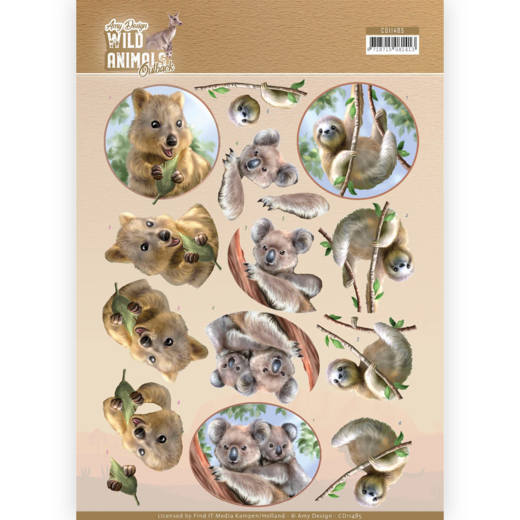 CD11485 3D Cutting sheet - Amy Design - Wild Animals Outback - Koala (HJ182)