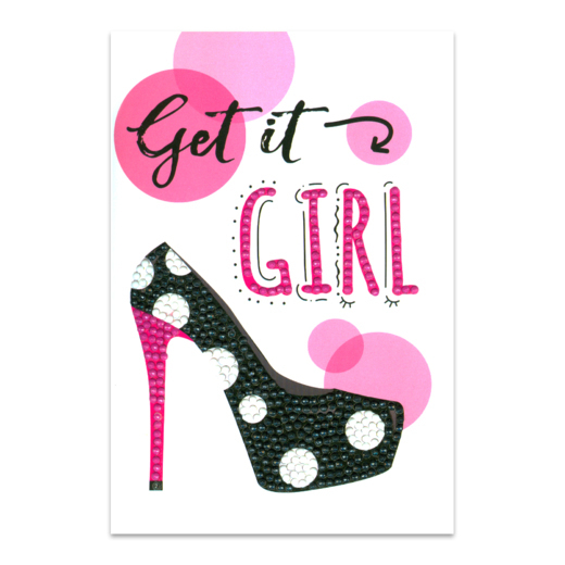 DP19012252 Craft Artist Diamond Art Card Kits - Get it Girl
