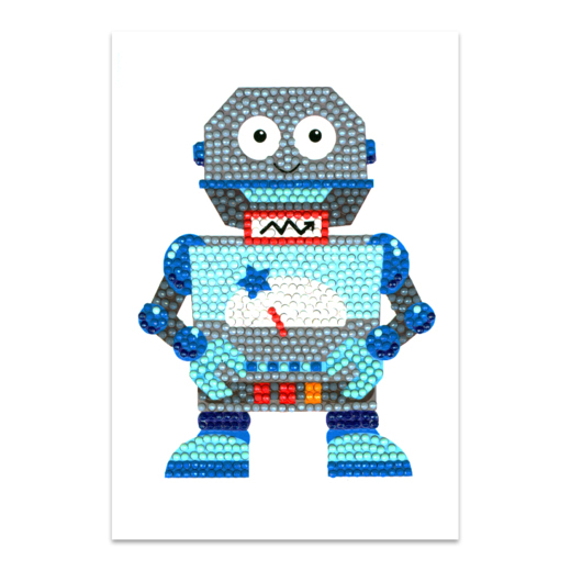 DP19012251 Craft Artist Diamond Art Card Kits - Robot