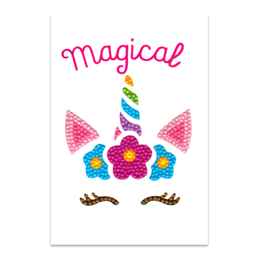 DP19012246 Craft Artist Diamond Art Card Kits - Unicorn Magical