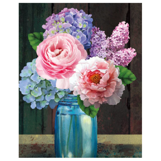 CTDCP-2 Craft Artist Diamond Art - Hydrangea Lilac